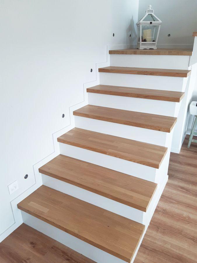 Pour Habiller Son Escalier Quart Tournant En Beton Blanc Angelique Du Compte Instagram Lucevaros A Eu La Bon En 2020 Escalier Quart Tournant Marches En Bois Escalier