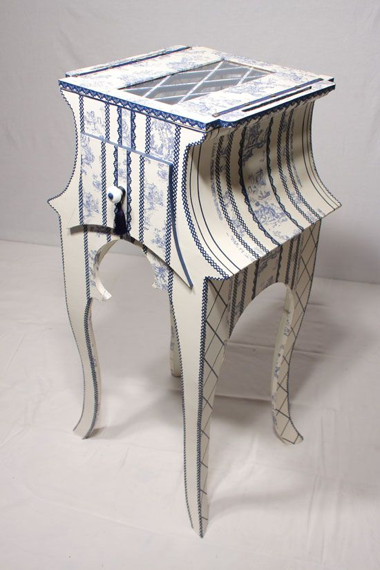 Meuble en carton meubles en carton cardboard furniture - Meuble en papier mache ...