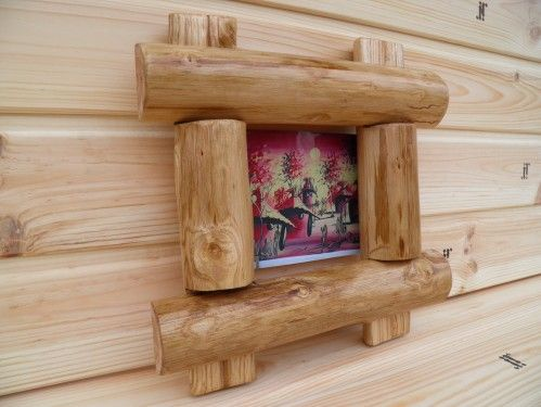 Wooden photo frame for 1 photo