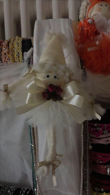 Mani di Gio...Fatina di Natale..realizzata con tulle, lycra, pannolenci, nastri, lana e fiori finti.