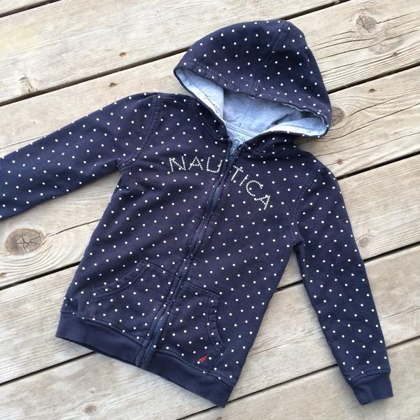 Full-Zip Hooded Sweater (Girls Size 6X)