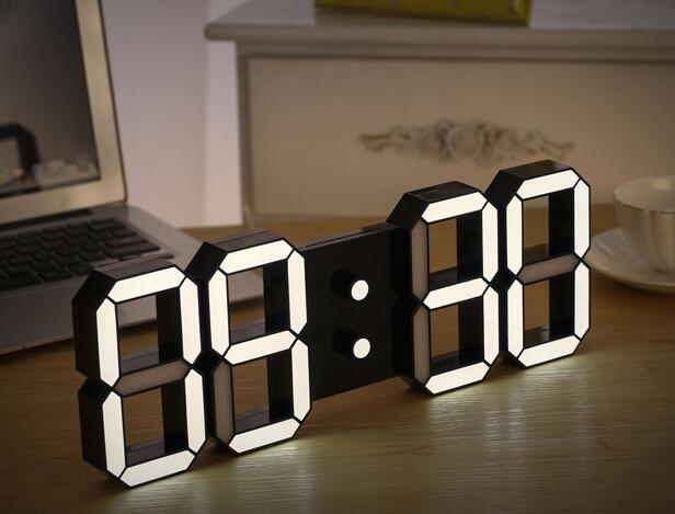 Creative Remote Control Large LED Digital Wall Clock Modern Design Home  Decor 3d Decoration Big Decorative