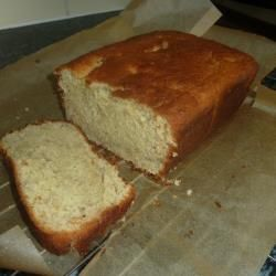 Easy banana cake.  Cooked it at 170 fan oven for about 40 mins.  Cooked but slightly stodgy.  50 mins might be better next time