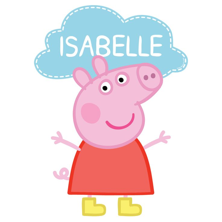 Peppa Pig Easy-Move Canvas Decal - Personalized Wall Decor - Decor | Tv's Toy Box