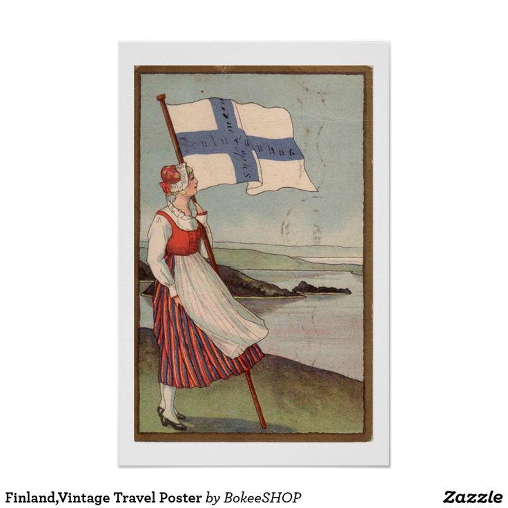 Finland,Vintage Travel Poster
