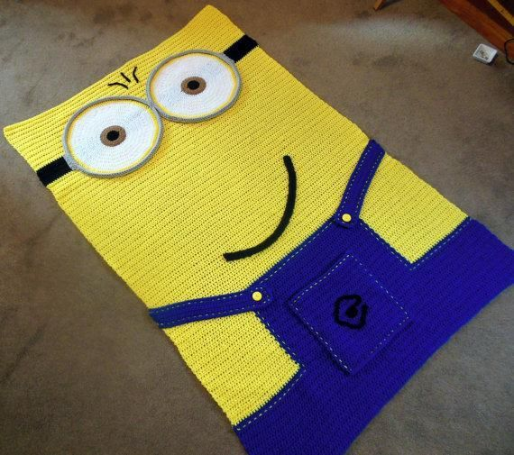 Looking for your next project? You're going to love Crochet Minion Inspired Afghan Pattern by designer Lucygirl45.