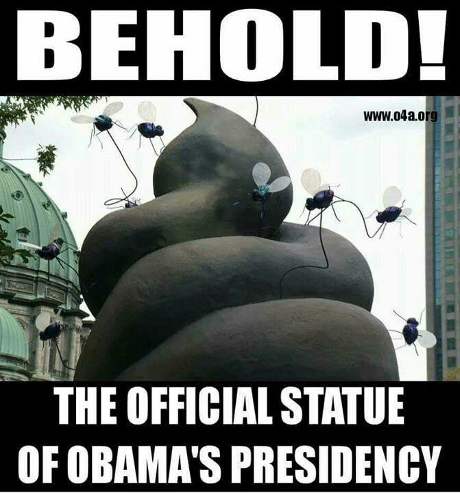 How appropriate, a monument to his legacy.