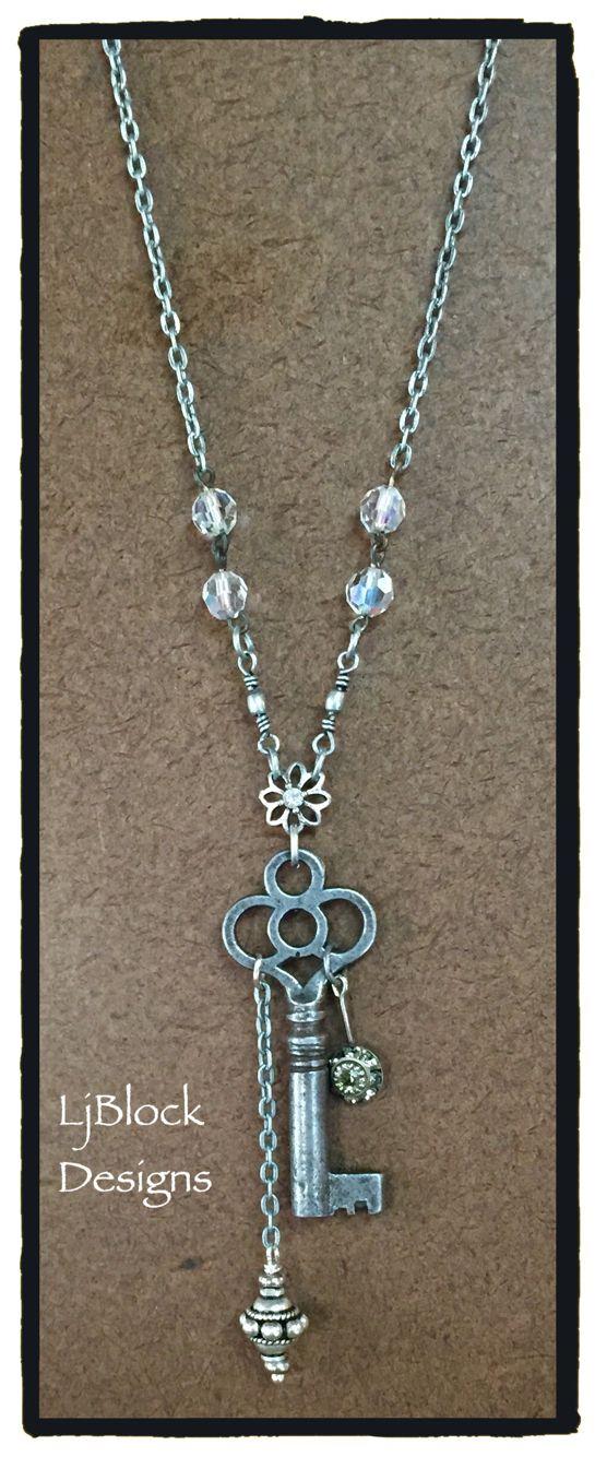 Vintage barrel key necklace by LjBlock Designs