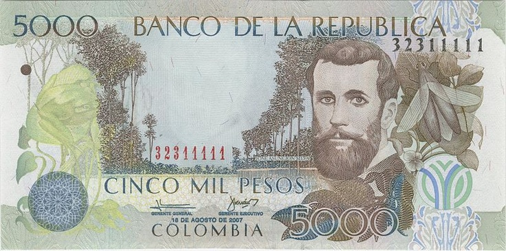 this is a 5000 dollar peso from colombia