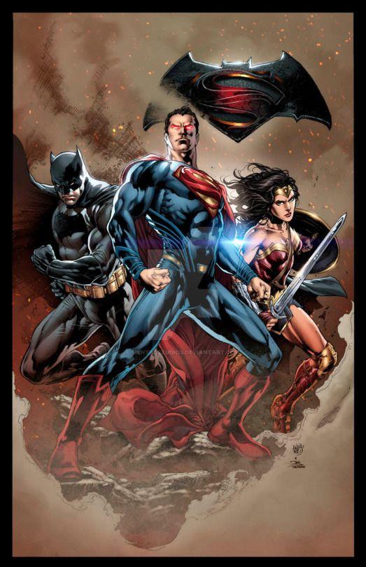 BATMAN v SUPERMAN (sample colors) by mentalstudios