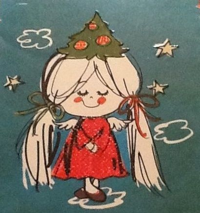 Sweet vintage angel card