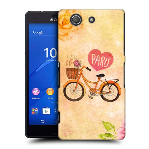 HEAD CASE BICYCLE I DREAM OF PARIS BACK COVER FOR SONY XPERIA Z3 COMPACT D5833 in Mobile Phones & Communication, Mobile Phone & PDA Accessories, Cases & Covers | eBay