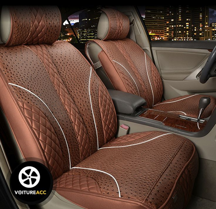 2015 january luxury car seat cover ostrich pattern leather four seasons 744 720. Black Bedroom Furniture Sets. Home Design Ideas
