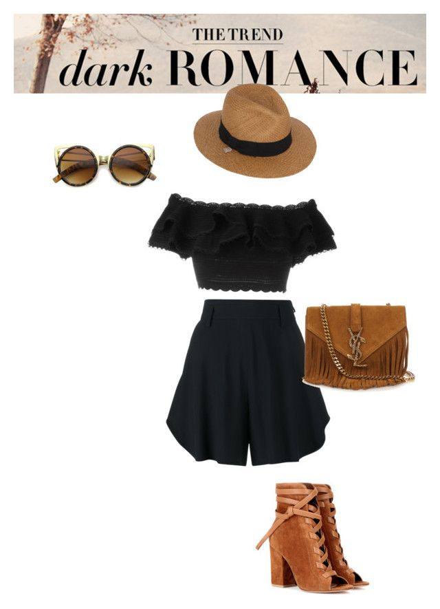 """Festival outfit "" by lipe-1 on Polyvore featuring Chloé, Gianvito Rossi, Yves Saint Laurent, Alexander McQueen and Alex"