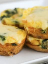 Spinach And Dubliner Cheese Egg Cups | Breakfast & Brunch | Pinterest