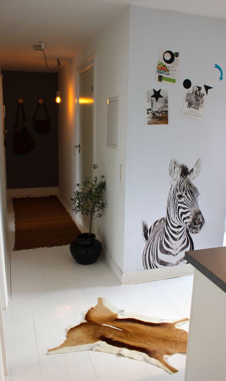 Our Magnet Wallpaper Zebra in an Apartment in Copenhagen