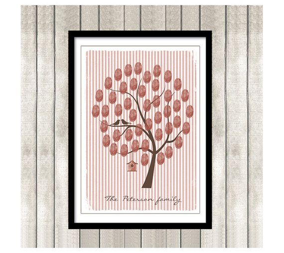 Guest book Thumbprint Family Tree Printable PDF  by ByYolanda, €14.00