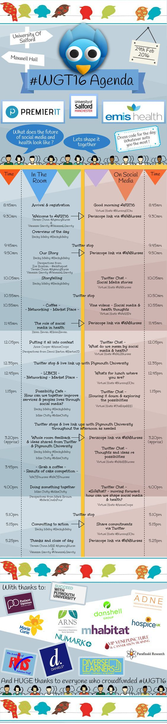The in the room and social media agenda for #WGT16