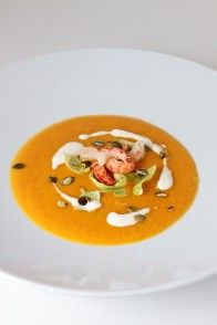 Kürbiscrèmesuppe mit Apfel   HighFoodality - Rezepte mit Bild