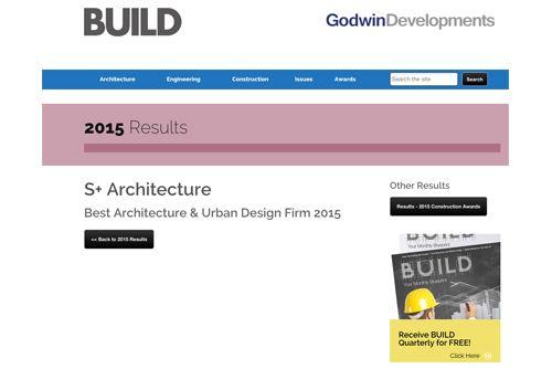 Award: S+ Architecture