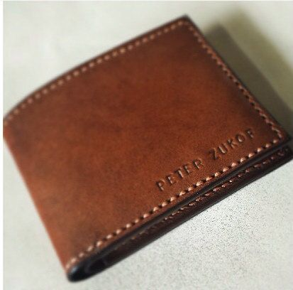Personalisierte kurze Leder Herrenbrieftasche (Grundlagen)