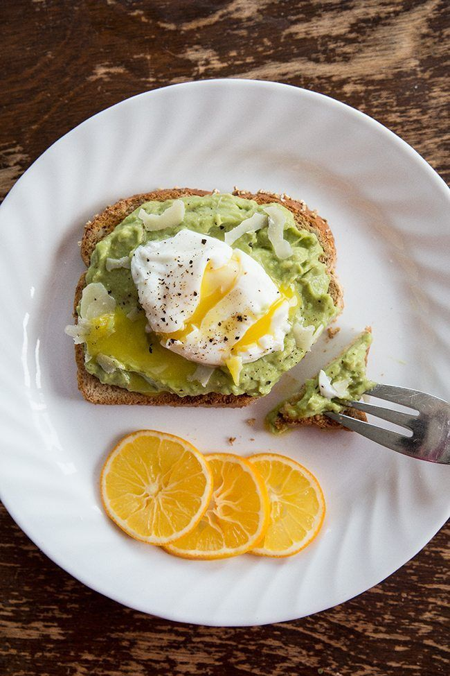Meyer Lemon Parmesan Avocado Toast & Egg from @kitchenmagpie. A healthy and fast meal!