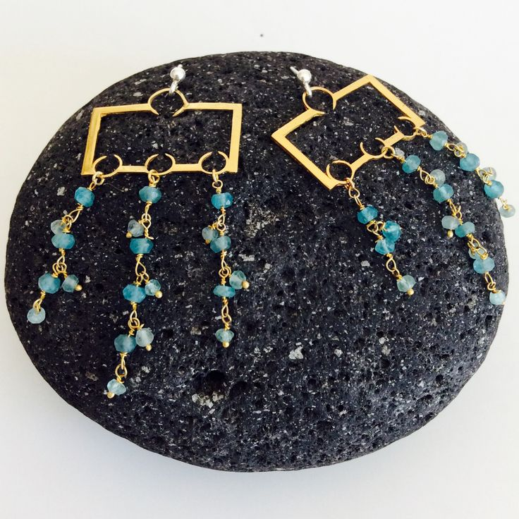 Earrings oriental, silver and goldenplated