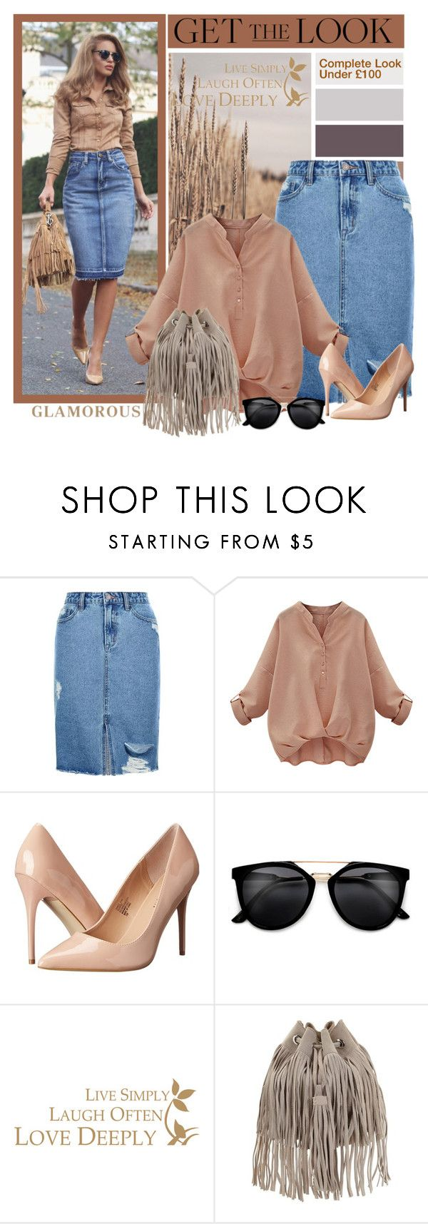 """""""Get The Look"""" by southindianmakeup1990 ❤ liked on Polyvore featuring New Look, Madden Girl, GetTheLook, fashionset and polyvoreeditorial"""