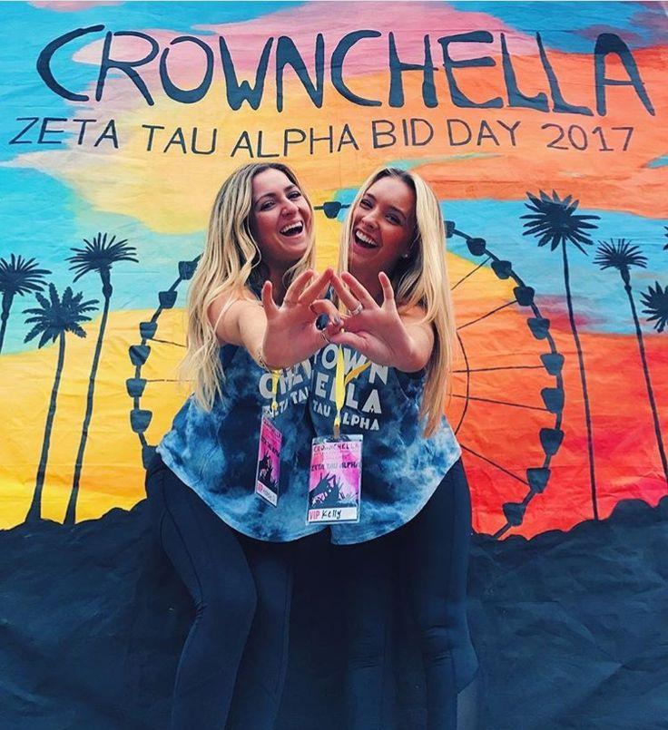 "La Vie Bri || Coachella Bid Day theme ""Crownchella"" - Zeta Tau Alpha"