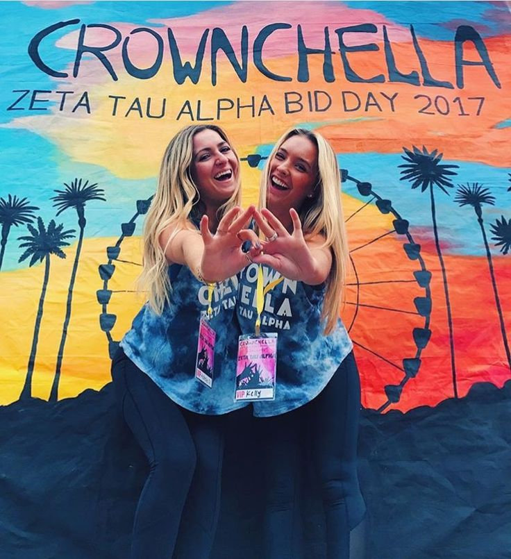 "La Vie Bri    Coachella Bid Day theme ""Crownchella"" - Zeta Tau Alpha"