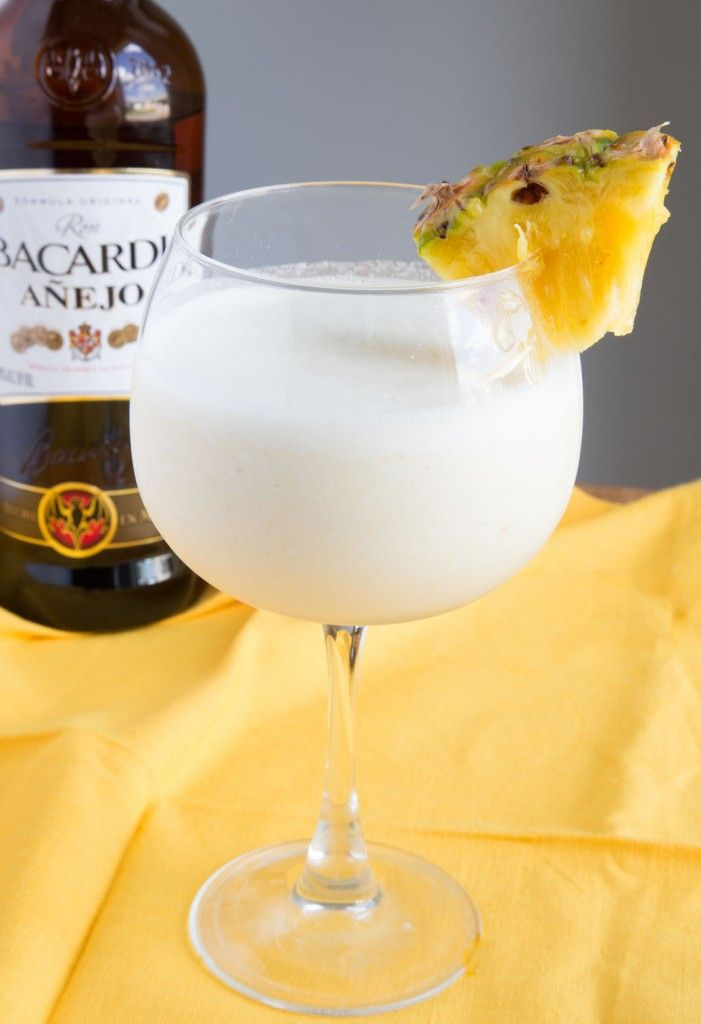 IT'S RUM TIME with a frozen Pina Colada made with Puerto Rican Rum! @RumsofPR #itsrumtime #ad