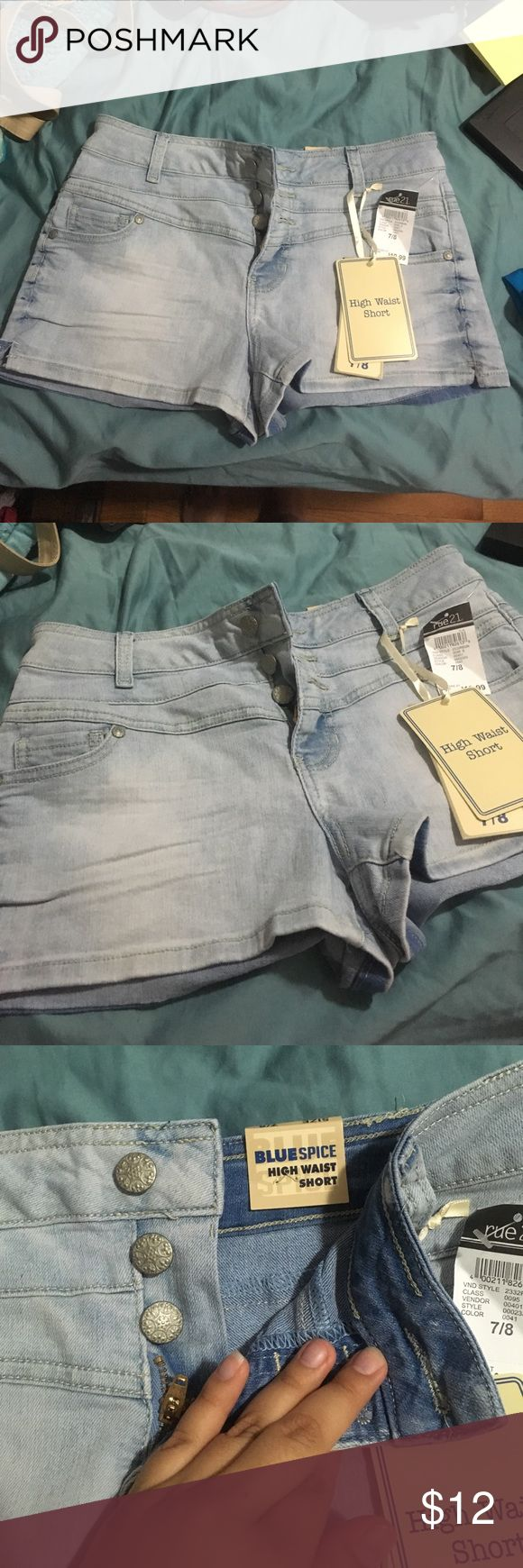 Rue 21: High Waist Short New with tags!! Size: 7/8 Rue 21 Shorts Jean Shorts