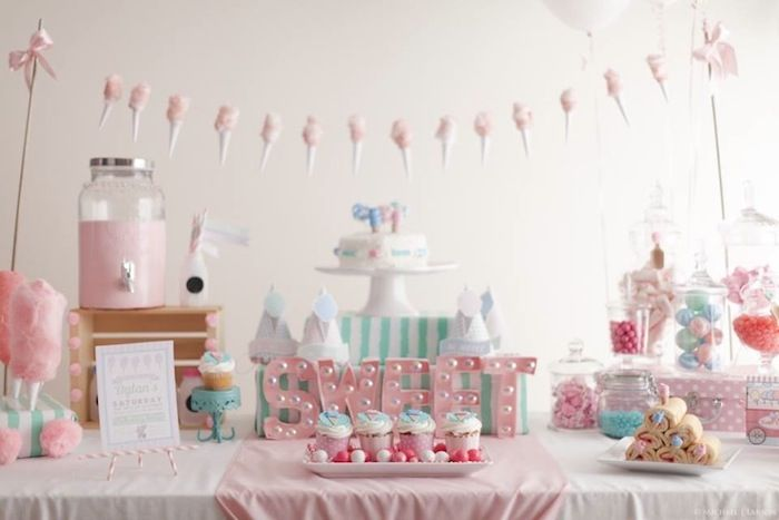 A Cotton Candy Themed Playdate with Lots of Really Cute Ideas via Kara's Party Ideas KarasPartyIdeas.com - The Place For All Things Party #c...