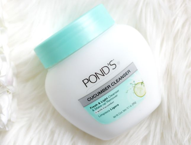 Pond's Cucumber Cleanser: Makeup removers for acne-prone Another awesome cleansing balm, and one that's great to try when you're on a budget is Pond's Cucumber Cleanser. This is also one of my favorite drugstore skincare products. I just want to point out that this stuff is great to use during winter when my skin gets dry.