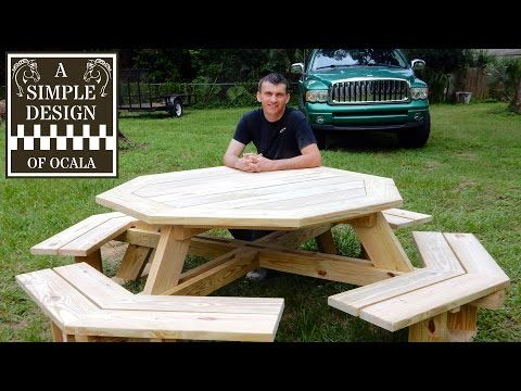 Building Your Own Octagon Picnic Table Plans - Free DIY Furniture Plans