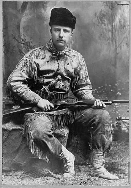 Teddy Roosevelt and his gun