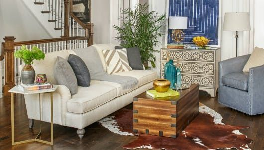 This Jeff Lewis original designer Contemp Living Room group features a neutral living room and amazing accessories - get it now at any of the Chicago area Walter E. Smithe Furniture + Design.