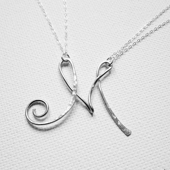 Letter Necklace Personalized Necklace Large by BelleAtelierJewelry, $44.00