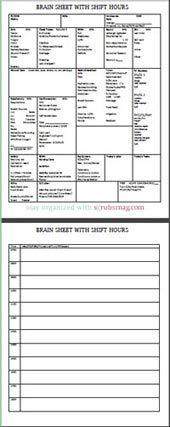 Best 25 nurse brain sheet ideas on pinterest nurse report sheet the 10 best nurse brain sheets pronofoot35fo Gallery