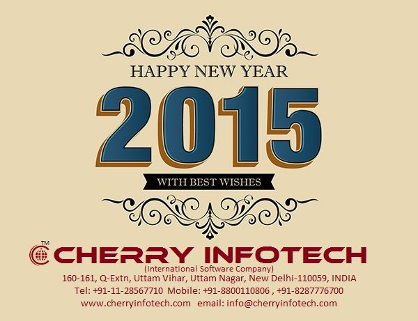 Happy New Year 2015 from Cherry Infotech