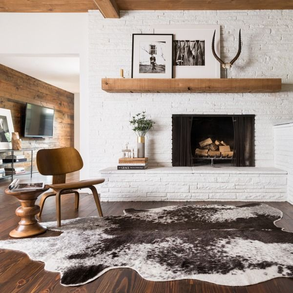 Rawhide Ivory Rug (6'2 x 8') - Overstock™ Shopping - Great Deals on Alexander Home 5x8 - 6x9 Rugs $199