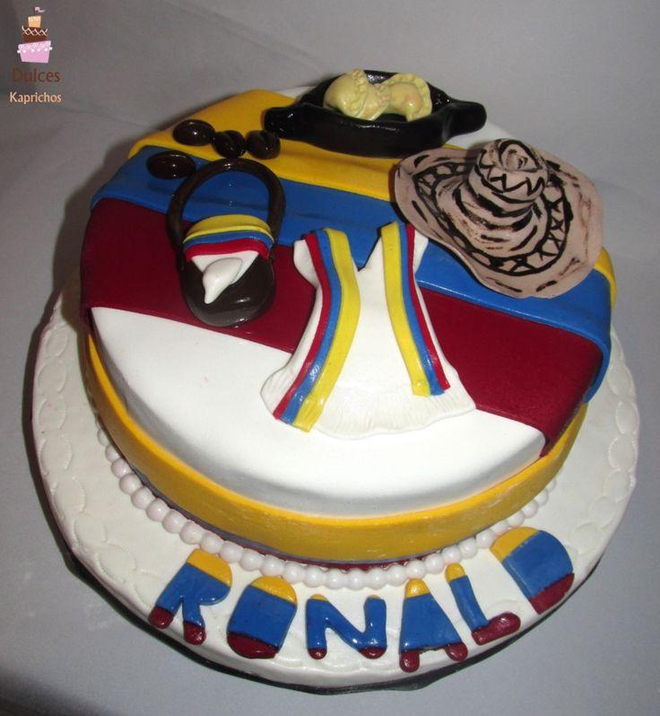 Torta Costumbrista Colombia #TortaColombia #TortasDecoradas #DulcesKaprichos