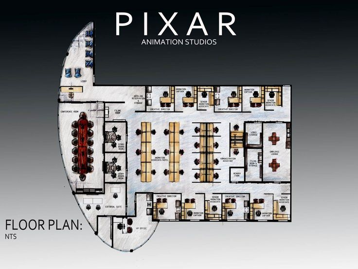 Revit pixar office floor plan office floor plans for Draw office floor plan