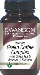 Swanson Best Weight-Control Formulas Green Coffee Complex with Green Tea & Raspberry Ketones 60 Veg Caps - Swanson Health Products