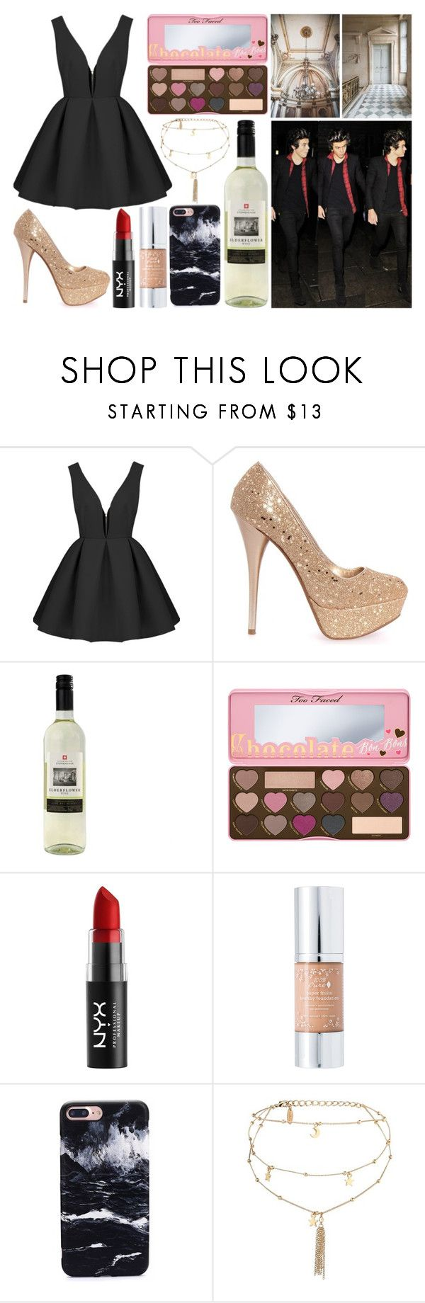 """Untitled #807"" by mariele-jule ❤ liked on Polyvore featuring Trianon, Too Faced Cosmetics, NYX, 100% Pure and Ettika"