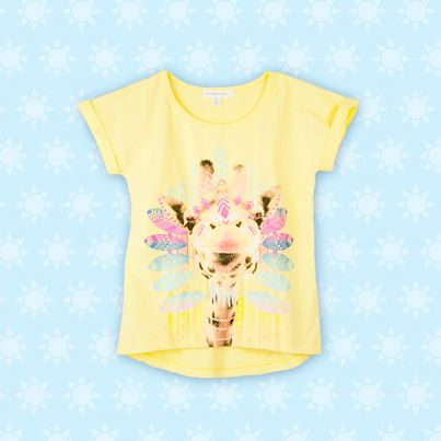 Pumpkin Patch Julia Giraffe Print T - available in sizes 5 to 12 years http://www.pumpkinpatchkids.com/