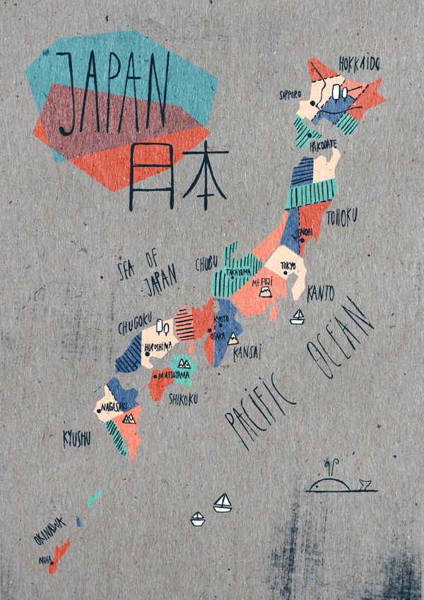Map of Japan by Soraya Santamaria Stephanie
