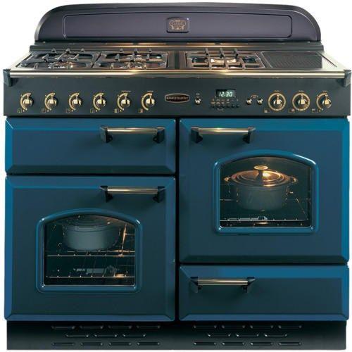 Rangemaster 73610 Classic 110cm Natural Gas Range Cooker - Blue And Brass