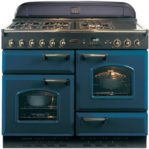 Rangemaster 73610 Classic 110cm Natural Gas Range Cooker - Blue And Brass