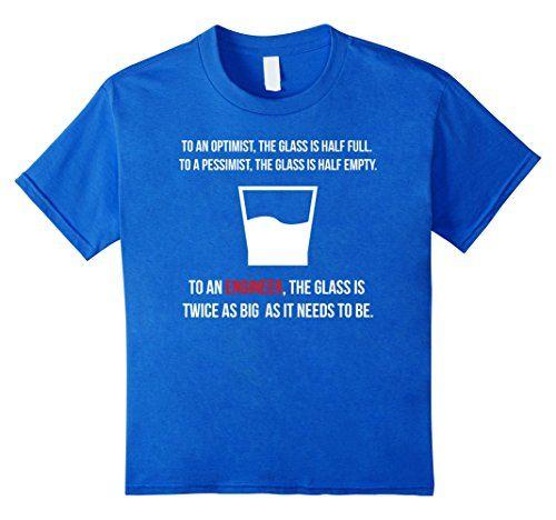 Engineer Glass Half Full T-Shirt Engineer Humor Funny Shirt